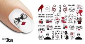 Слайдер-дизайн для ногтей New Max SD-322