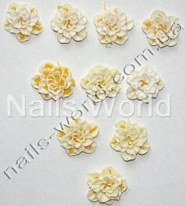 Силиконовые цветы для дизайна ногтей №020