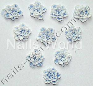 Силиконовые цветы для дизайна ногтей №025