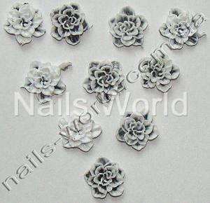 Силиконовые цветы для дизайна ногтей №026