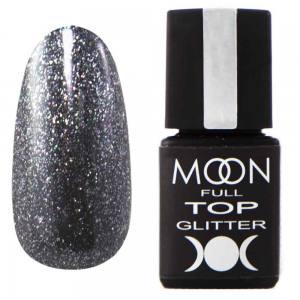 Top Glitter MOON FULL №3 Silver (прозрачный с серебристым микроблеском), 8 мл