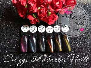 Гель-лак кошечка 5D Barbie nails 7мл