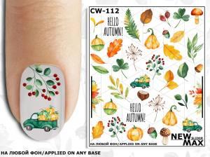 Слайдер-дизайн для ногтей New Max CW-112
