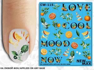 Слайдер-дизайн для ногтей New Max CW-115