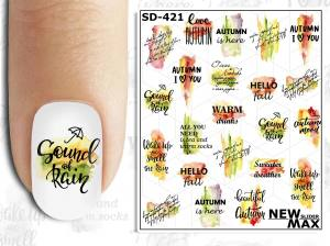 Слайдер-дизайн для ногтей New Max SD-421