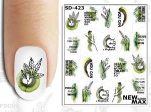 Слайдер-дизайн для ногтей New Max SD-423
