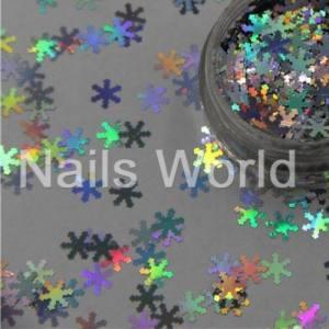 Снежинки Nails Worl №001