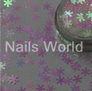 Снежинки Nails Worl №002