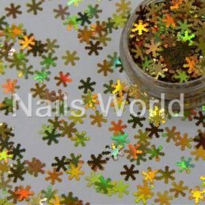 Снежинки Nails Worl №005