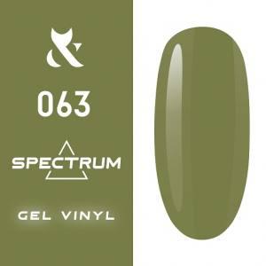 Гель-лак F.O.X Spectrum Gel Vinyl № 063 Cannabis (травяной, эмаль), 7 мл