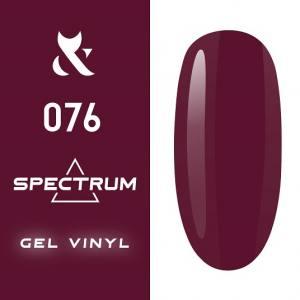 Гель-лак F.O.X Spectrum Gel Vinyl № 076 Hot (яркий красно-малиновый, эмаль), 7 мл
