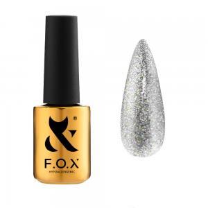 Гель-лак F.O.X Sphynx Cat eye №002 (серебристый, магнитный), 7 мл