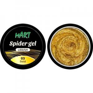 Гель-паутинка mART 11 золото 5г