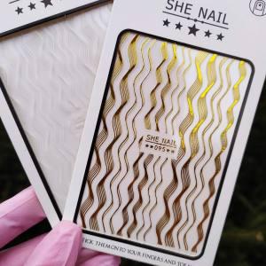 Наклейка для дизайна ногтей Nail Sticker 095