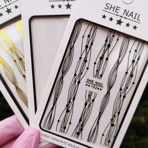 Наклейка для дизайна ногтей Nail Sticker 102