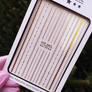 Наклейка для дизайна ногтей Nail Sticker 109