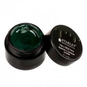 УФ и ЛЕД гель-краска Starlet Professional st-32 Темная зеленая