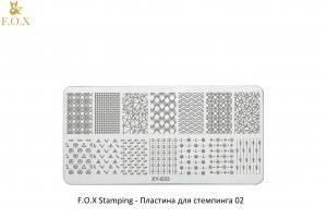 Пластина для стемпинга F.O.X Stamping XY-E03