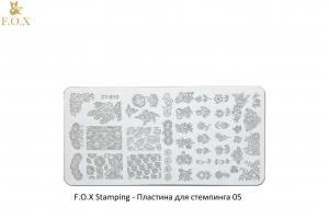 Пластина для стемпинга F.O.X Stamping XY-E010