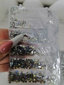 Стразы стекло Star Diamant 1440шт отдельная фасовка размеров