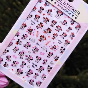 Наклейка для дизайна ногтей Nail Sticker 046