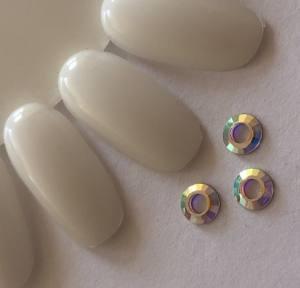 Стразы фигурные 6mm Crystal AB кольцо 80-33 1шт