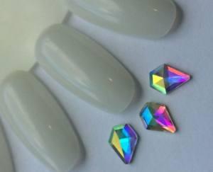 Стразы фигурные стекло crystal AB бриллиант 1шт