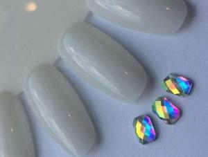 Стразы фигурные стекло crystal AB прямоугольник 1шт