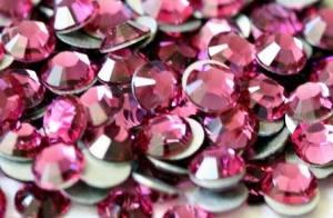 Стразы для ногтей стекло Fuchsia SS3 100шт