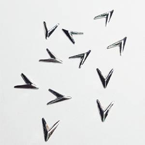 Металлические фигурки 28 Стрела серебро (10шт)