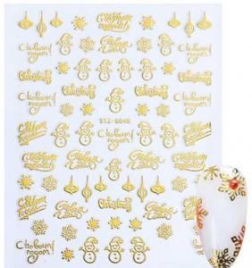 Наклейка новогодняя STZ-G048 Золото
