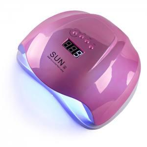 УФ LED лампа светодиодная Sun X 54 Вт Зеркальная Розовая