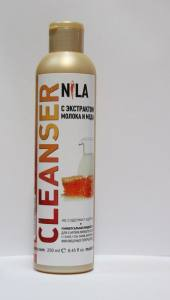 Жидкость для снятия липкого слоя  Nila 250мл молоко и мед