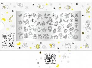 Пластина для стемпинга TakiDa Mini HOLIDAY 02