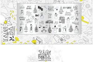Пластина для стемпинга TakiDa Mini HOLIDAY 03