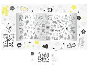 Пластина для стемпинга TakiDa Mini HOLIDAY 01