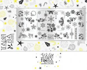 Пластина для стемпинга TakiDa Mini HOLIDAY 04