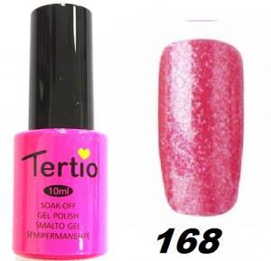 Гель-лак Tertio Ярко-розовый с блестками №168 10 мл