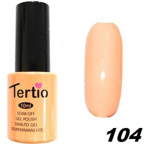 Гель-лак Tertio №104 светло-оранжевая эмаль 10мл