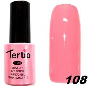 Гель-лак Tertio №108 розовый 10мл