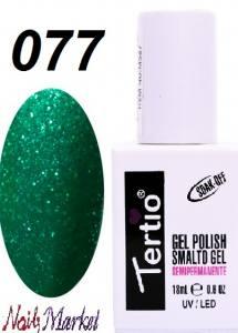 Гель-лак Tertio Classico 18мл №77 зелено-бирюзовый с блестками