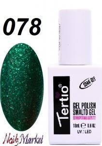 Гель-лак Tertio Classico 18мл №78 зеленый с брокаттом