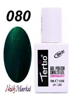 Гель-лак Tertio Classico 18мл №80 зеленый с мелким шиммером