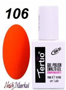 Гель-лак Tertio Classico 18мл №106 красно-оранжевый