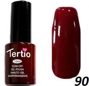 Гель-лак Tertio №90 каштановый с микроблеском 10мл