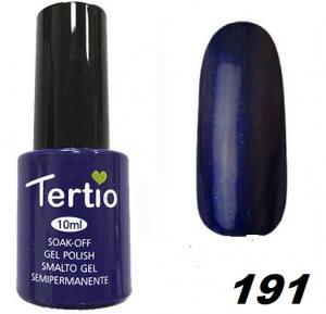 Гель-лак Tertio Тёмно-синий с микроблеском №191 10 мл