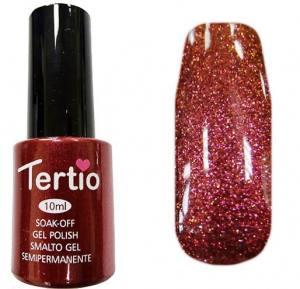 Гель-лак Tertio №91 темно-красный с микроблеском 10мл