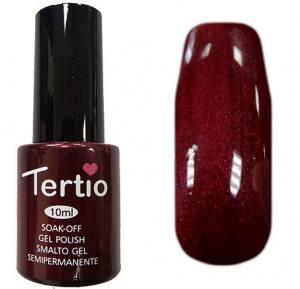 Гель-лак Tertio №95 темно-алый с микроблеском 10мл