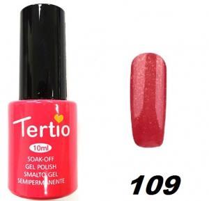 Гель-лак Tertio №109 нежно-красный с синим микроблеском 10мл