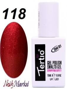 Гель-лак Tertio Classico 18мл №118 красный с шиммером